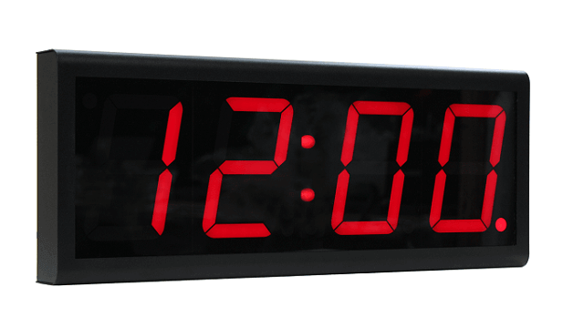Relógio digital PoE